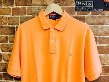 表記M!ラルフローレン Polo オレンジ 半袖 ポロシャツ 古着 サーフ RRL サーファー 10