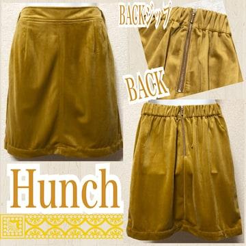 【新品/Hunch】BACKジップベロアタイトミニスカート