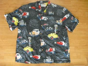パラダイスファウンド ホットロッド アロハシャツ USA-XL