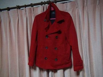 grnのピーコート赤(M)!。