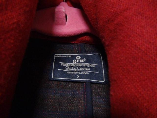 grnのピーコート赤(M)!。 < 男性ファッションの