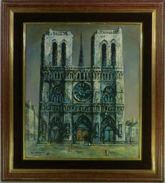 美術館級 絵画 油彩 浦上正則《NOTRE DAME PARIS》巨匠 真作保証