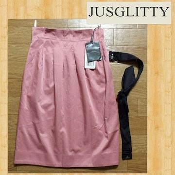 購入16800円 JUSGLITTY ジャスグリッティー スカート 新品 アルベージュ