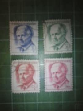 旧チェコスロバキア人物切手4種類(CS15)♪