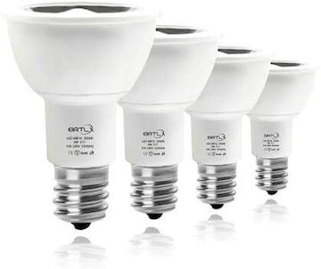 電球色3000k 4個 BRTLX LEDスポットライト E17口金 40W形相当 LE