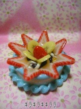 《New》デコ*ホールケーキ<樹脂粘土>★イチゴ&バナナのケーキ