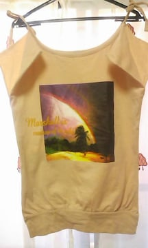 ヤシの木ハワイアンリゾートプリント肩結びTシャツ