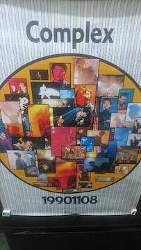未使用 貴重!当時モノ complex 吉川晃司&布袋寅泰 ポスター 1990