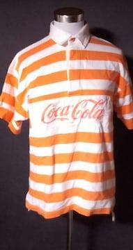 コカコーラボーダーポロシャツLサイズ