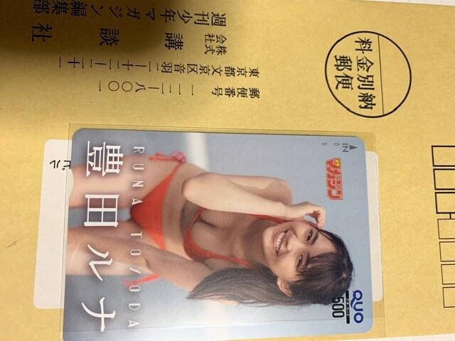 豊田ルナ抽選プレゼントクオカード  < タレントグッズの