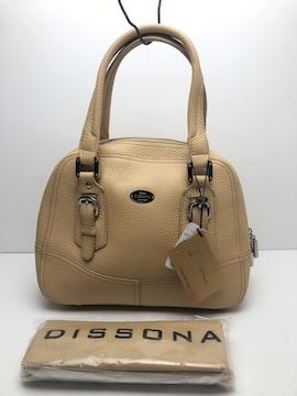 B143 新品★ Dissona ディソーナ ハンドバッグ 牛革 保存袋付き