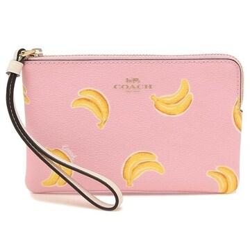 COACH ポーチ3285 IMR47 バナナ ピンク