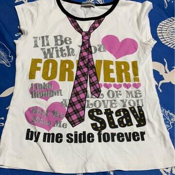 *ネクタイプリTシャツ*140