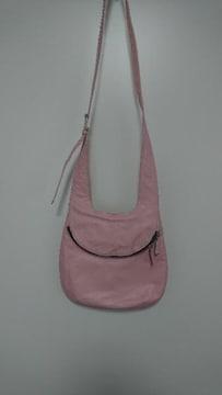 ピンクレザーのショルダーバッグ定価12000円