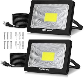 led 投光器 作業灯 看板灯 50W 昼光色 集魚灯 駐車場灯