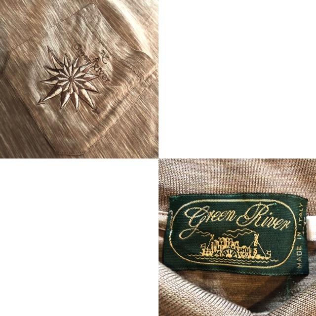 GREEN RIVER■ポロシャツ■霜降り■イタリア製■グリーンリバー < 男性ファッションの