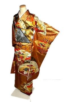 【最高峰】【未使用品】 本金箔 金駒刺繍 手描き 振袖 T2085