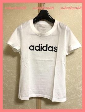 ☆アディダス☆新品2519円☆美ラインロゴTシャツL☆