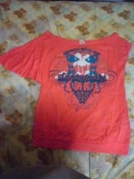 GAS サーモンピンク 肩だしオフショル Tシャツ 激安