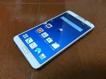 即落/即発!!美中古品 SC-01F Galaxy Note 3 ホワイト