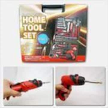 送料無料 ホームツールセット 工具セット 電池式ドライバー付