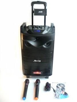 充電式スピーカーシステム・Bluetooth・無線マイク2本付