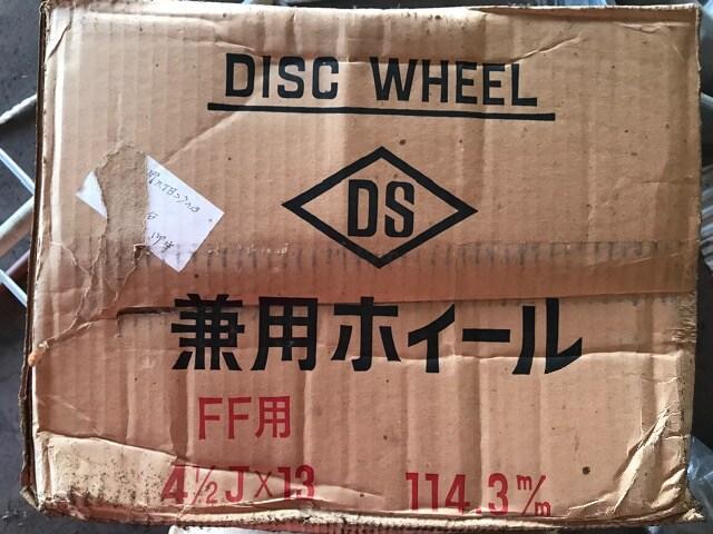 ディスク 兼用 スチール ホイール グレー 13インチ 未使用 < 自動車/バイク