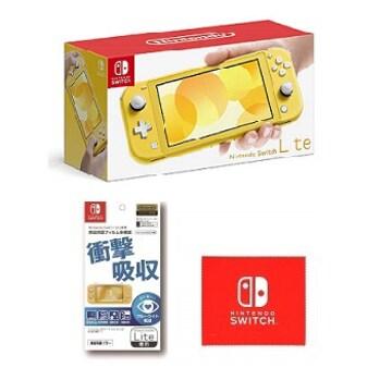 Nintendo Switch Lite★ニンテンドースイッチライト★イエロー★フィルム+クロス★新品