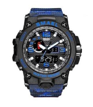 SMAEL 1545D-MC スポーツウォッチ(ブラック・ブルー)