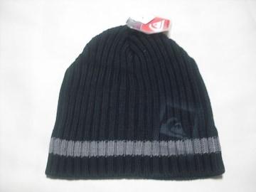 mb698 男 QUIKSILVER クイックシルバー ニット帽 ビーニー 黒