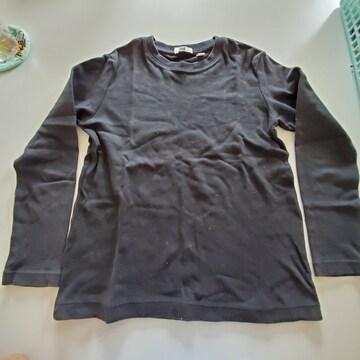 黒無地、長袖Tシャツ�@120