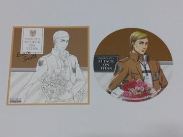 【進撃の巨人】特典色紙風カード&コースター《エルヴィン》