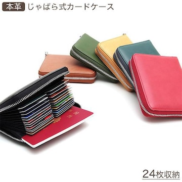 ¢M 大容量 計24枚のカードが収納 じゃばら式カードケース/BL