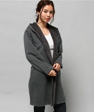 ☆アズール裏起毛フード付きコート☆新品S