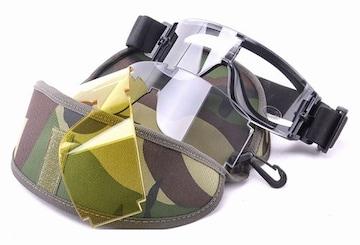 X800 タクティカルゴーグル 3色レンズ サバゲー SWAT ミリタリー