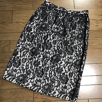 新品定価3万超えダブルビー ネイビーブラックレーススカート