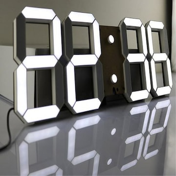 LEDデジタル時計 3Dデザイン アラーム機能付き