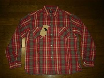 新品RATSラッツチェックネルシャツM赤長袖
