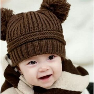 赤*くまさん ベビー帽子