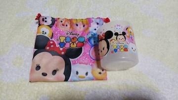 ディズニーツムツム カップ&小袋セット 袋ピンク[新品 未使用]