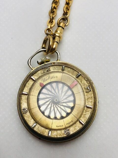 T175 Webster ウェブスター 手巻き 懐中時計 スイス製 希少 < 男性アクセサリー/時計の