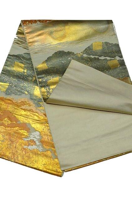 千鳥1114*【最高級】名門 【服部織物】 六通柄袋帯 美品 < 女性ファッションの