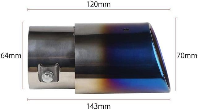 汎用 マフラーカッター チタン焼き風 38mmΦ-51mmΦ < 自動車/バイク