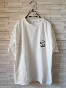 新品 半袖 Tシャツ ニコちゃん ビックサイズ 白 2XL