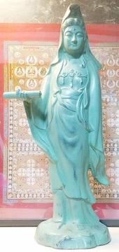 【大迫力】白衣観音菩薩立 特大52cm 銅製 仏教美術
