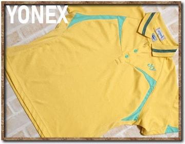 ヨネックス 刺繍入り半袖ポロシャツ 黄
