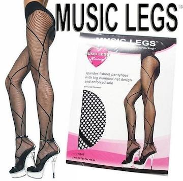 9A9)MUSICLEGSダイヤモンドタイツ黒ブラックセレブダンス衣装ウェディングパーティー