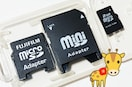 送料無料 ● microSD2GB⇒miniSD⇒SDアダプタの3in1 初期不良保証