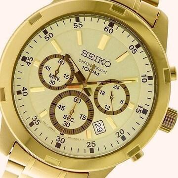 新品 即買い■セイコー SEIKO 腕時計 SKS610P1 ゴールド