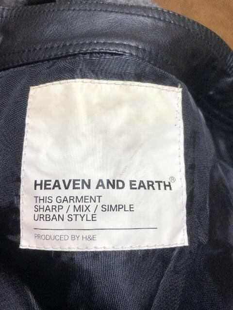 ヘブンアンドアース ライダースジャケット ブラック F < ブランドの